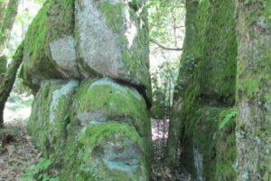 Pierres N°7 blocs et pierres à bassins sur la colline de Saulce d'Aigues J-1